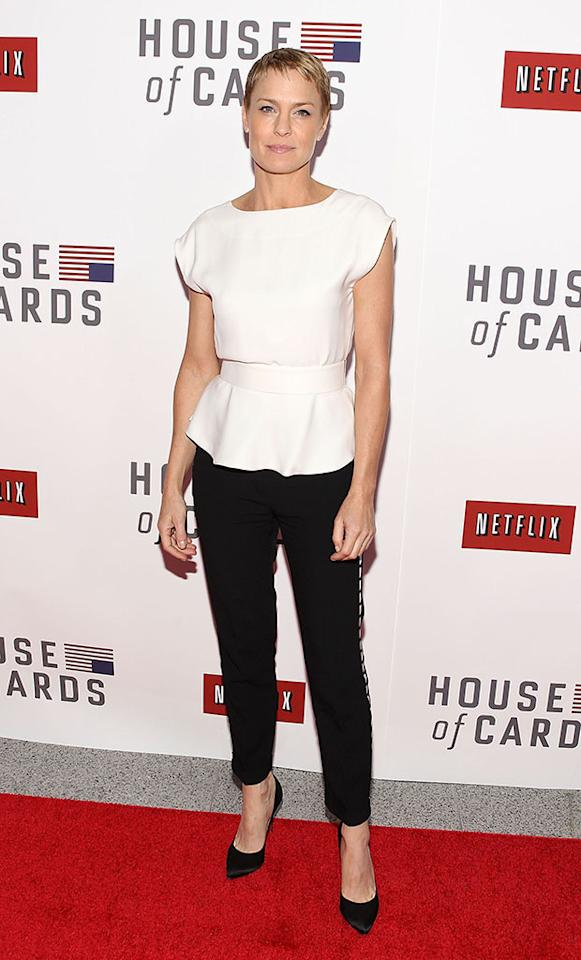 "Robin Wright attends Netflix's ""House of Cards"" Washington DC Screening at the NEWSEUM on January 29, 2013 in Washington, DC."
