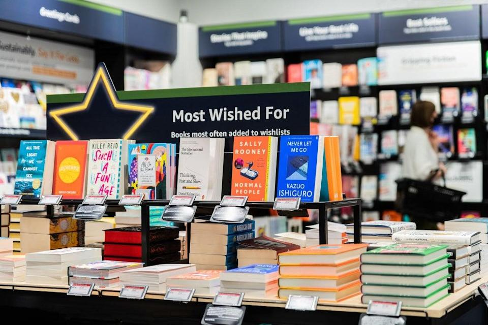 Amazon has displays including the most wished for products by customers online (Amazon/PA) (PA Media)