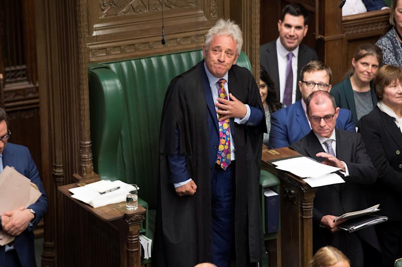 John Bercow announced he will stand down as Commons Speaker