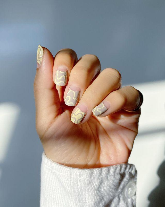 """<p>When it comes to nail art inspiration, we love <a href=""""https://www.instagram.com/thehangedit/"""" rel=""""nofollow noopener"""" target=""""_blank"""" data-ylk=""""slk:@thehangedit"""" class=""""link rapid-noclick-resp"""">@thehangedit</a>, especially this grey and yellow design which looks suspiciously like our living room.</p><p><a href=""""https://www.instagram.com/p/CL99KKuHAr5/"""" rel=""""nofollow noopener"""" target=""""_blank"""" data-ylk=""""slk:See the original post on Instagram"""" class=""""link rapid-noclick-resp"""">See the original post on Instagram</a></p>"""