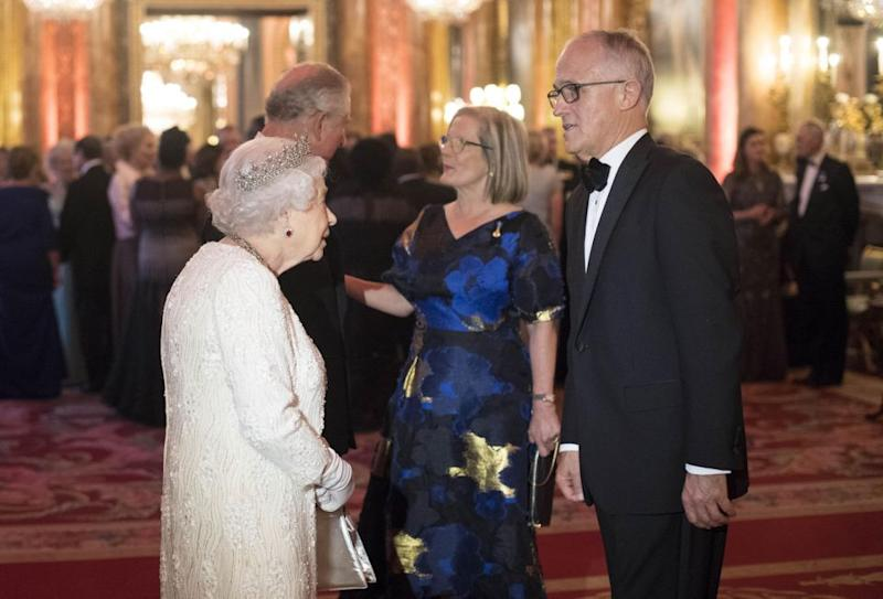 The Queen greeted Malcolm Turnbull at the event. Photo: Getty Images