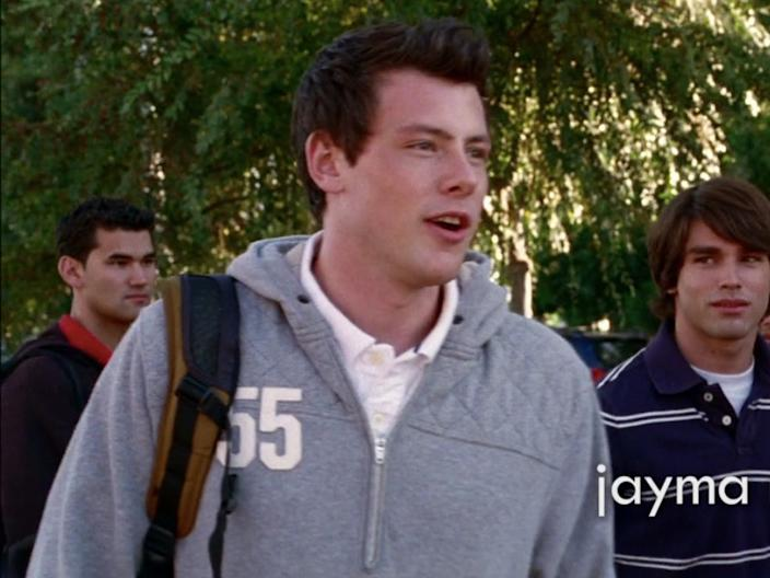 Finn Hudson starts the series as a football player.