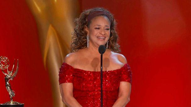 PHOTO: In this video grab released Sept. 19, 2021, by the Television Academy, Debbie Allen accepts the governors award during the Primetime Emmy Awards. (Television Academy via AP)
