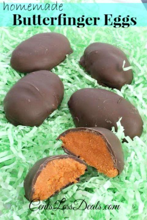 """<p>Once you make these candies, you're never going to want to buy the store-bought version again. Did we mention you only need three ingredients to make these?</p><p><strong>Get the recipe at <a href=""""http://centslessdeals.com/2014/03/homemade-butterfinger-eggs-3-ingredients.html/"""" rel=""""nofollow noopener"""" target=""""_blank"""" data-ylk=""""slk:Centsless Deals"""" class=""""link rapid-noclick-resp"""">Centsless Deals</a>. </strong></p>"""