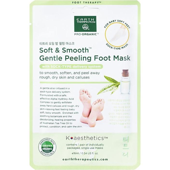 earth therapeutics, best foot peel masks
