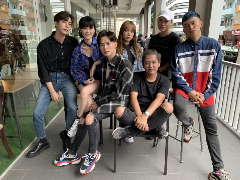 The cast and director of So Bright Season 2 (from left): Kim Nam Woo, Jayley Woo, Aden Tan, Jannassa Neo, director Isukuta Wen Han, Bunz, and Tosh Zhang. (Photo: Teng Yong Ping/Yahoo Lifestyle Singapore)