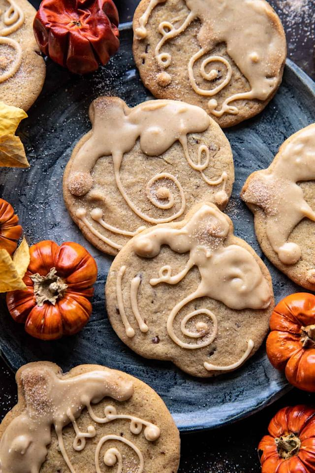 """<p>Made with brown sugar and maple syrup, these soft cookies are rich, buttery, and even a little nutty. The gooey glaze is thick and creamy, meaning they'll melt right in your mouth.</p> <p><strong>Get the recipe</strong>: <a href=""""https://www.halfbakedharvest.com/brown-sugar-maple-cookies/"""" target=""""_blank"""" class=""""ga-track"""" data-ga-category=""""internal click"""" data-ga-label=""""https://www.halfbakedharvest.com/brown-sugar-maple-cookies/"""" data-ga-action=""""body text link"""">glazed brown sugar maple cookies</a></p>"""