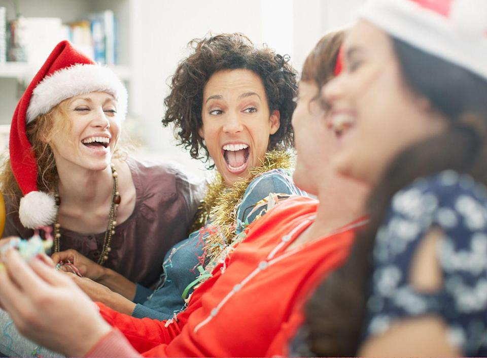 """<p>Pick three """"facts"""" (think anything from your favorite Christmas memories to the worst gifts you've ever been given), and see how many people can pick the lie from three statements.</p>"""