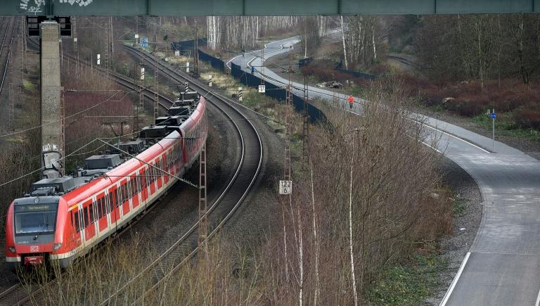 Critics say Germany's infrastructure is crumbling but the government has pledged billions of euros to modernise the rail system (AFP Photo/PATRIK STOLLARZ)