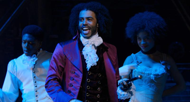 "Daveed Diggs portrays the jazzy showboat Thomas Jefferson in ""Hamilton."""