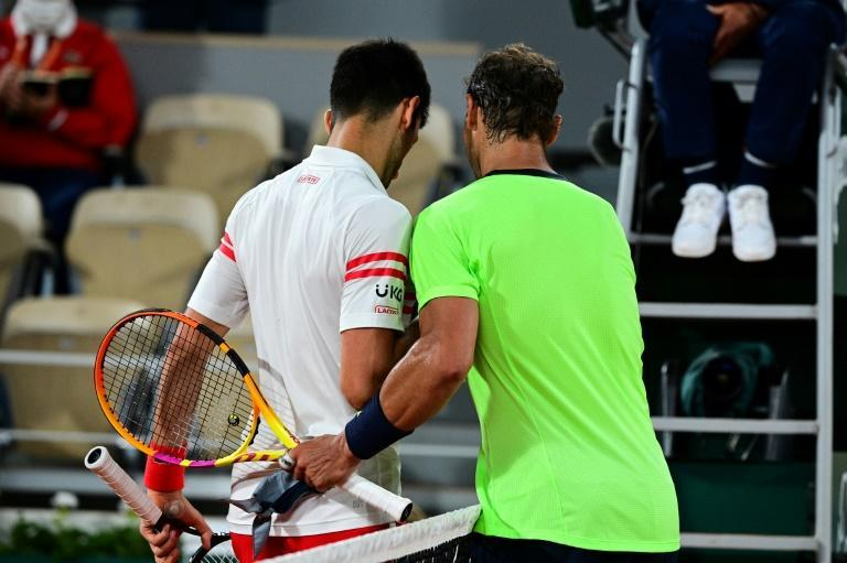 Dethroned: Djokovic and Nadal after their 2021 French Open semi-final
