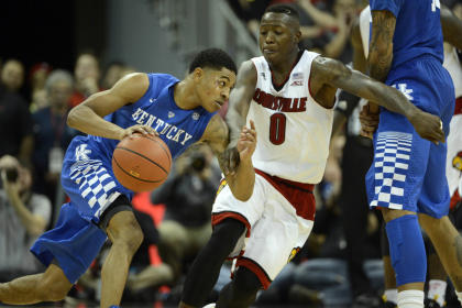 Tyler Ulis' 12 second-half points kept Kentucky in control late against Louisville. (USAT)