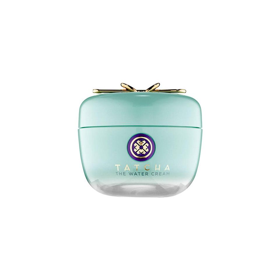 """<p>Tatcha's refreshing water-based cream is <em>way</em> more than just a pretty package. """"I love the transformation when you apply this hydrating, oil-free water cream,"""" says New York City dermatologist Melissa Doft. """"It has ingredients that help decrease pore size, smooth skin texture, and make your skin glow."""" Those ingredients include Japanese botanicals like wild rose and leopard lily, which never leave skin feeling slick or greasy.</p> <p><strong>$68</strong> (<a href=""""https://click.linksynergy.com/deeplink?id=MZ9491VLjxM&mid=38643&u1=alluremoisturizersthatwontclogpores&murl=https%3A%2F%2Fwww.tatcha.com%2Fproduct%2FWATER-CREAM.html"""" rel=""""nofollow noopener"""" target=""""_blank"""" data-ylk=""""slk:Shop Now"""" class=""""link rapid-noclick-resp"""">Shop Now</a>)</p>"""