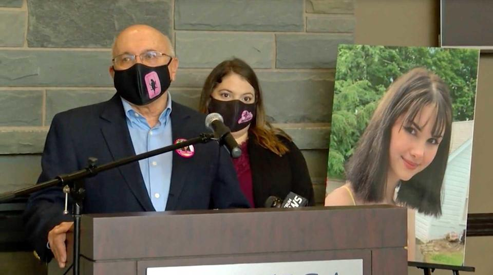 In addition to pushing for a new law in Bianca's name, her grandfather, Frank Williams, and mother Kim Devins announced a scholarship in her memory. / Credit: WKTV