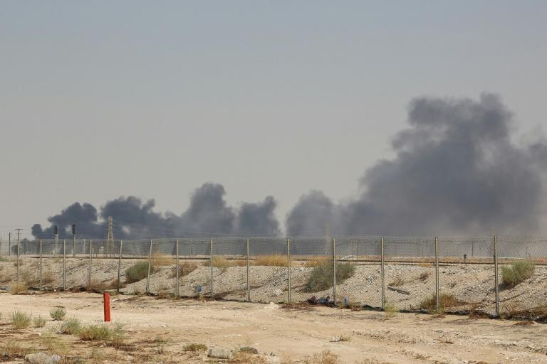 Smoke billows from Saudi oil giant Aramco's huge Abqaiq processing plant following a Saturday attack that Iran insists was carried out by Yemeni rebels (AFP Photo/-)