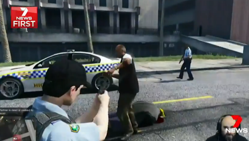 NSW Police feature in a violent variation of Grand Theft Auto. Photo: 7 News