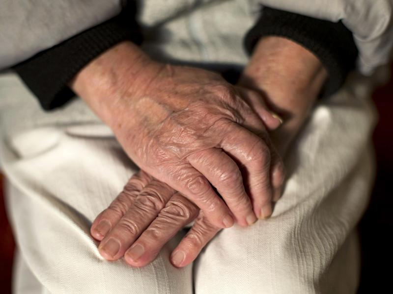 An undated photo showing the hands of an elderly woman: Yui Mok/PA Wire/PA Images