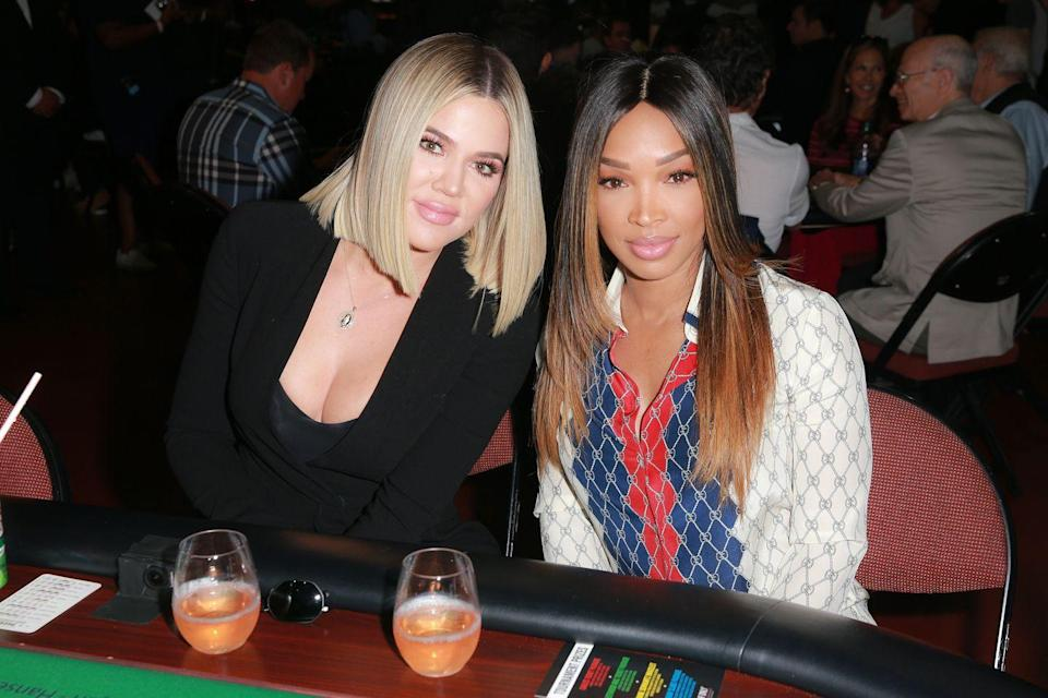 """<p>While Khloé Kardashian's <a href=""""https://www.elle.com/culture/celebrities/a33071163/khloe-kardashian-tristan-thompson-dating-again-july-2020/"""" rel=""""nofollow noopener"""" target=""""_blank"""" data-ylk=""""slk:relationship status with ex Tristan Thompson"""" class=""""link rapid-noclick-resp"""">relationship status with ex Tristan Thompson</a> remains unknown, her bond with longtime bestie Malika Haqq has never been question. According to Khloé's blog (via <em><a href=""""https://www.cosmopolitan.com/entertainment/celebs/a26424991/malika-haqq-khloe-kardashian-best-friend/"""" rel=""""nofollow noopener"""" target=""""_blank"""" data-ylk=""""slk:Cosmopolitan"""" class=""""link rapid-noclick-resp"""">Cosmopolitan</a></em>), the duo has been pals since they were 15 and met when Malika was dating one of her male friends. Malika is still a regular presence on <em>Keeping Up With the Kardashians </em>and Khloé's <a href=""""https://www.instagram.com/p/CCFImMmBCou/"""" rel=""""nofollow noopener"""" target=""""_blank"""" data-ylk=""""slk:Instagram"""" class=""""link rapid-noclick-resp"""">Instagram</a>.<br></p>"""