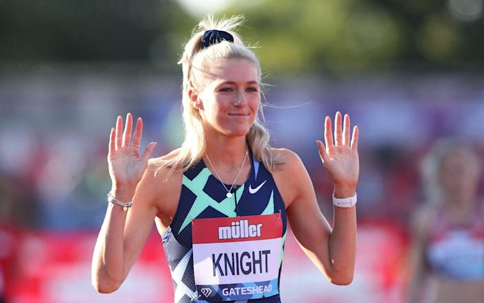 Jessie Knight will compete in the 400m hurdles and 4x400m - AFP