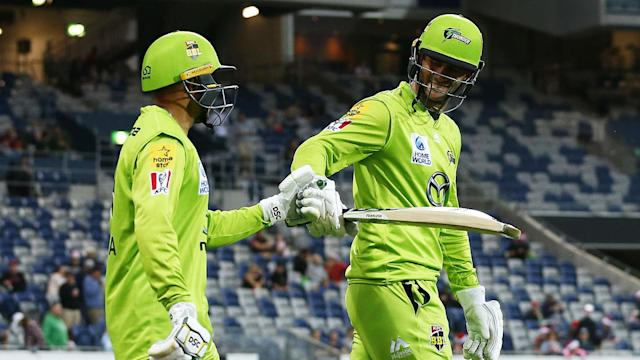 Sydney Thunder will face Adelaide Strikers in a Big Bash League Knockout clash on Saturday after eliminating Hobart Hurricanes.