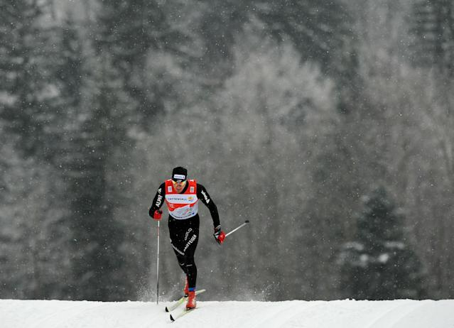 Swiss Dario Cologna competes during the qualification of the men's Tour de Ski 1,2 kilometer Classic Sprint on January 2, 2011 in Oberstdorf, sourthern Germany. Swedish Emil Joensson won the comeptition, followed by Devon Kershaw from Canada (2nd) and Dario Cologna (3rd). AFP PHOTO / CHRISTOF STACHE (Photo credit should read CHRISTOF STACHE/AFP/Getty Images)