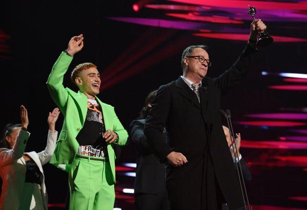 Olly Alexander and Russell T Davies (Photo: David Fisher/Shutterstock)