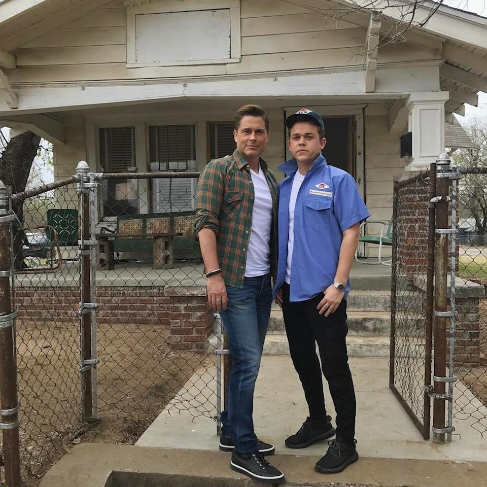 """<p>The actor <a rel=""""nofollow"""" href=""""https://www.yahoo.com/celebrity/rob-lowe-visits-the-outsiders-house-during-trip-to-tulsa-234133598.html"""">took a walk down memory lane</a> when he hit up <em>The Outsiders</em> house with his son Johnny during a trip to Tulsa, Okla., on his 53rd birthday. """"<a rel=""""nofollow"""" href=""""https://www.instagram.com/explore/tags/birthday/"""">#birthday</a> visit to where it all started. Thirty five years ago to the day. Passing the torch (or towel?),"""" he cracked, referencing his character Sodapop Curtis's shower scene.(Photo: <a rel=""""nofollow"""" href=""""https://www.instagram.com/p/BRv3yXdBSuT/"""">Instagram</a>) </p>"""