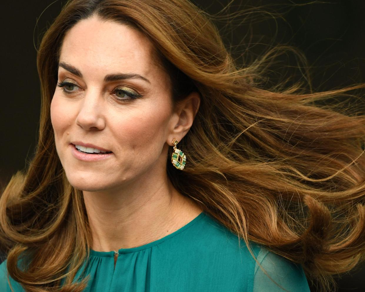 Kate's hair appeared to have reddish tones on Oct. 2. (Photo: Bart Lenoir/NurPhoto via Getty Images)