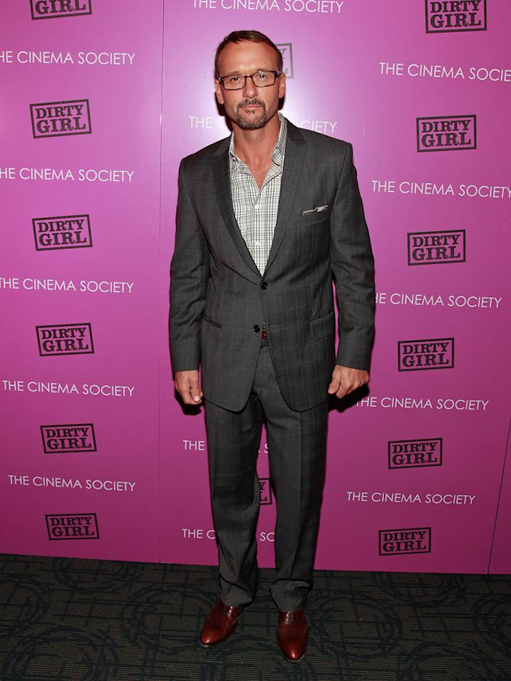 "<a href=""http://movies.yahoo.com/movie/contributor/1800227534"">Tim McGraw</a> at the New York Cinema Society screening of <a href=""http://movies.yahoo.com/movie/1810152298/info"">Dirty Girl</a> on October 3, 2011."