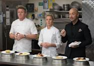 "<p>If a challenge involves a particular skill or technique that isn't well-known by a home cook (remember, there are no pros on this show), <a href=""https://www.dailymail.co.uk/news/article-2560250/Gordon-Ramsays-US-MasterChef-coaching-cheat-storm-ex-contestant-reveals-blog-hopefuls-given-secret-cooking-classes.html"" rel=""nofollow noopener"" target=""_blank"" data-ylk=""slk:production will bring an expert in to teach contestants"" class=""link rapid-noclick-resp"">production will bring an expert in to teach contestants</a>.</p>"