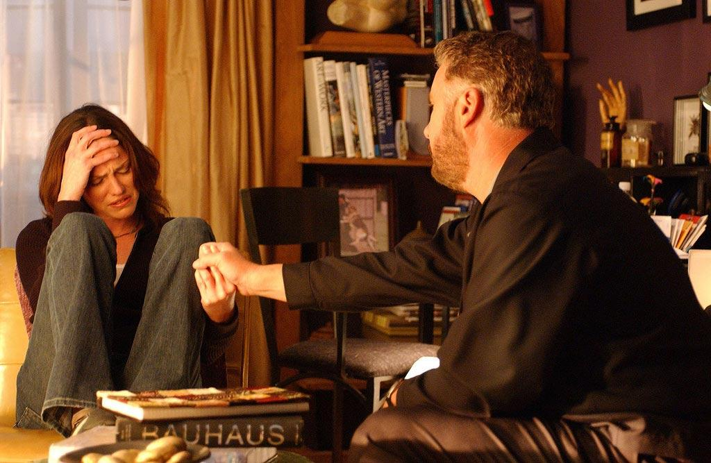 """After Sara is suspended and sent home, she consults with Grissom and ends up revealing her long-held family secret that her mother murdered her father. (""""Nesting Dolls"""" 2/3/2005 Season 5)"""