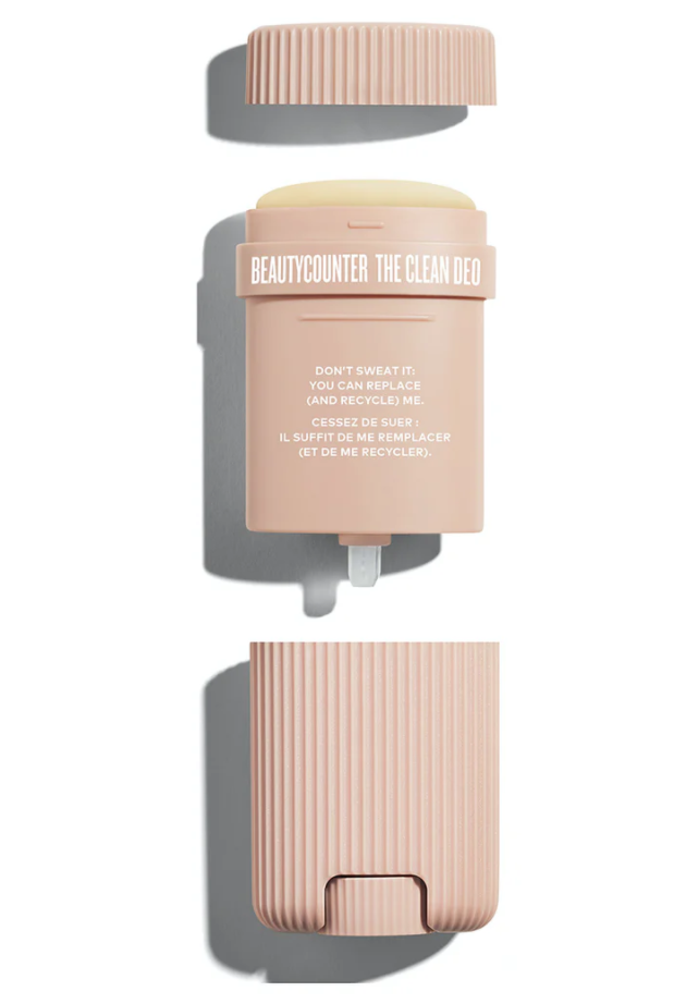 Beautycounter couldn't have made it easier to replace your conventional deodorant once and for all. The Clean Deo effectively fights body odour, absorbs sweat, glides on smoothly, and leaves no white residue behind.