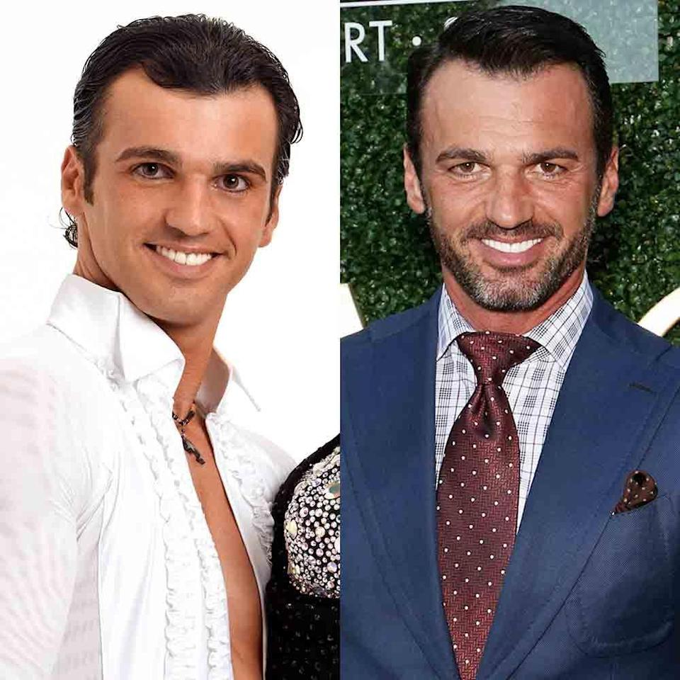"""<p>Tony made his first appearance on season two and was on the show for 21 consecutive seasons. He won the All-Stars season with reality TV star Melissa Rycroft — and reality TV is one of the reasons he left the show. On a 2018 episode of <a href=""""https://hollywoodlife.com/2018/02/08/tony-dovolani-dancing-with-the-stars-exit-reason/"""" rel=""""nofollow noopener"""" target=""""_blank"""" data-ylk=""""slk:Hollywood Life's podcast"""" class=""""link rapid-noclick-resp""""><em>Hollywood Life</em>'s podcast</a>, Tony revealed he cut ties with the competition series because the antics of the reality TV personalities interfered with his teaching. Now he is a teacher for <a href=""""https://www.fredastaire.com/fred-astaire-dance-studios-dance-council"""" rel=""""nofollow noopener"""" target=""""_blank"""" data-ylk=""""slk:Fred Astaire Dance Studios"""" class=""""link rapid-noclick-resp"""">Fred Astaire Dance Studios</a>.</p>"""