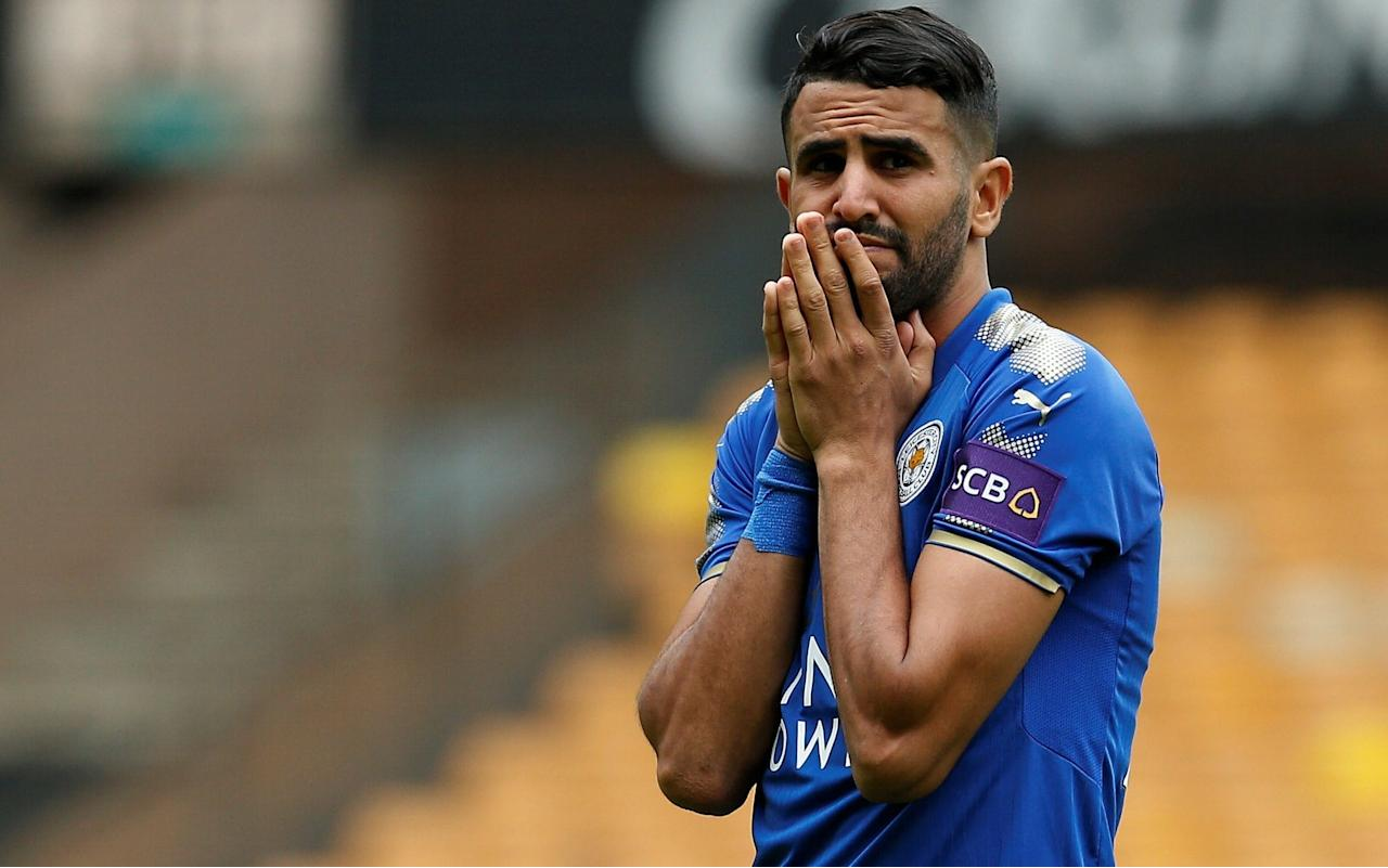 Riyad Mahrez is facing the prospect of staying at Leicester, as the club stick to their £50million valuation. Mahrez's future at the former Premier League champions remains in limbo ahead of the transfer window closing on August 31, with Roma understood to have abandoned their interest after having three bids rejected. Roma are now considering other targets and it is now appearing increasingly likely that the winger, who has handed in a transfer request, will be staying as clubs are reluctant to pay the asking price. Leicester are insistent that no offers under £50million will be accepted for Mahrez, a former PFA Player of the Year with three years left on his current £110,000 a week contract. Their stance is strengthened by Swansea's £50million valuation of Gylfi Sigurdsson while Leicester's billionaire Thai owners are under no pressure to raise money. Leicester are also ready to demand a significant fee for midfielder Danny Drinkwater, who is a target for champions Chelsea. New kits 17/18 An initial bid of £15million was turned down earlier this summer and Chelsea are ready to make an improved offer, but it is believed Leicester will push the price up above £30million. Drinkwater signed a new five-year deal worth £90,000 a week last summer and is an England international. Leicester have sold Tom Lawrence to Derby County in a £7m deal and could send Ahmed Musa to Hull City on loan before the window closes. The club is hopeful of persuading England under-21 international Demarai Gray to sign a new contract, to kill off interest from Bournemouth and Tottenham Hotspur. Pick your free Telegraph Fantasy Football team now and start scoring from the next kick-off >>