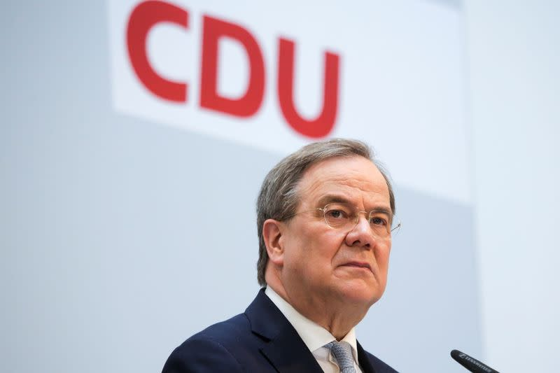 German CDU Party Leader Laschet holds news conference