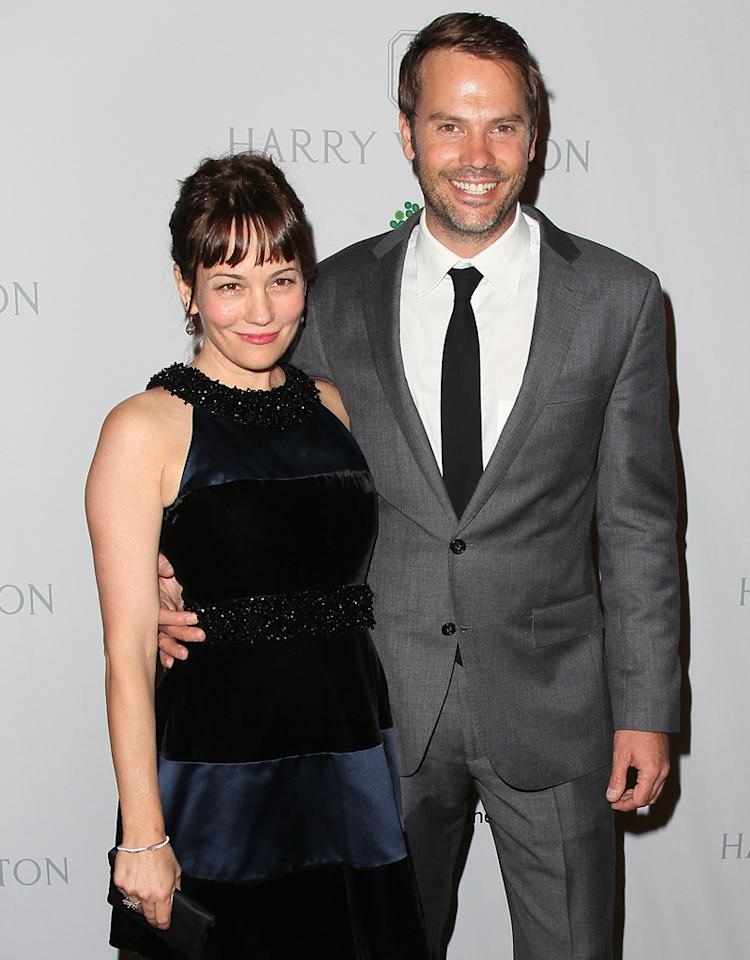 CULVER CITY, CA - NOVEMBER 03:  Actors Natasha Gregson Wagner (L) and Barry Watson attend the 1st Annual Baby2Baby Gala at The BookBindery on November 3, 2012 in Culver City, California.  (Photo by David Livingston/Getty Images)