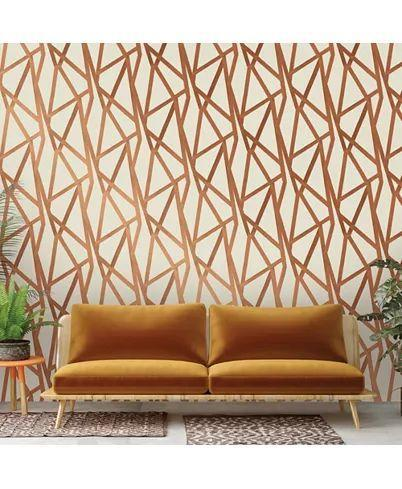 """This geometric print has a bronze effect that will work equally well with glam or industrial decor. Macy's has plenty more where this came from. $251, Macy's. <a href=""""https://www.macys.com/shop/product/genenieve-gorder-for-tempaper-intersections-self-adhesive-wallpaper/www.macys.com/shop/product/genenieve-gorder-for-tempaper-intersections-self-adhesive-wallpaperhesive-wallpaper?ID=5403391"""" rel=""""nofollow noopener"""" target=""""_blank"""" data-ylk=""""slk:Get it now!"""" class=""""link rapid-noclick-resp"""">Get it now!</a>"""