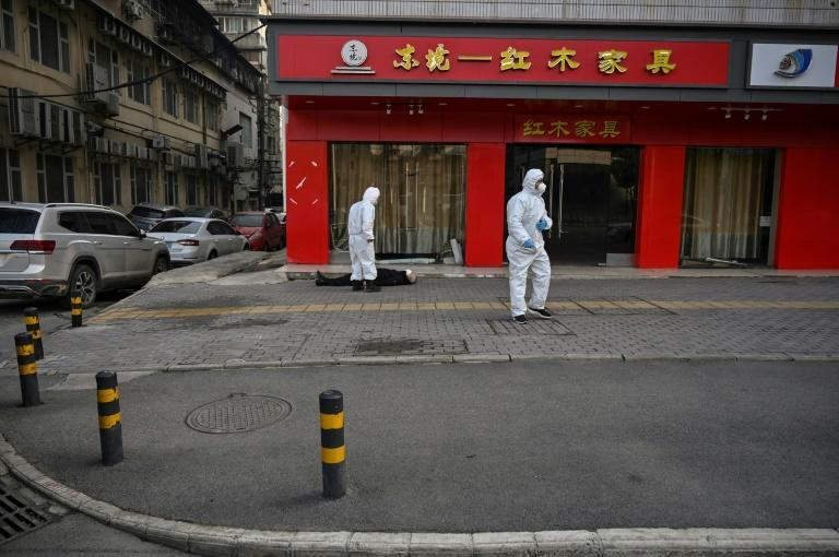 The man was wearing a face mask and died in a nearly deserted residential street