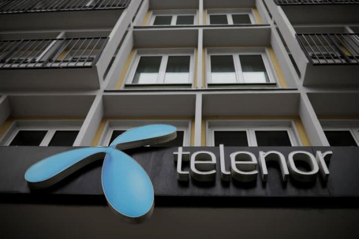 FILE PHOTO: Telenor's logo is seen in central Belgrade