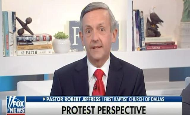 Dallas pastor Robert Jeffress is among President Donald Trump's top evangelical advisers. He says the players are lucky they don't live in a country like North Korea.