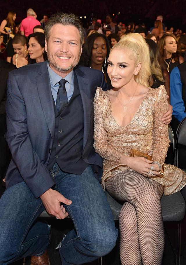 <p>Blake Shelton and Gwen Stefani attend the 2017 Billboard Music Awards at T-Mobile Arena on May 21, 2017 in Las Vegas, Nevada. (Photo by John Shearer/BBMA2017/Getty Images for dcp) </p>