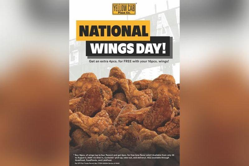 Yellow Cab celebrates National Wings Day with promo