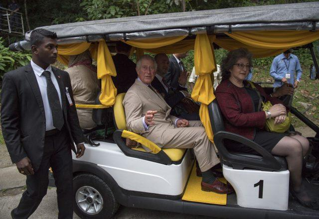 Charles during a visit to the Belum Rainforest Reserve in Malaysia