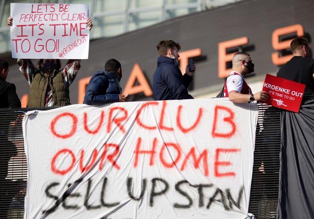 Arsenal fans called for Kroenke to sell the club as an angry response to the European Super League debacle.