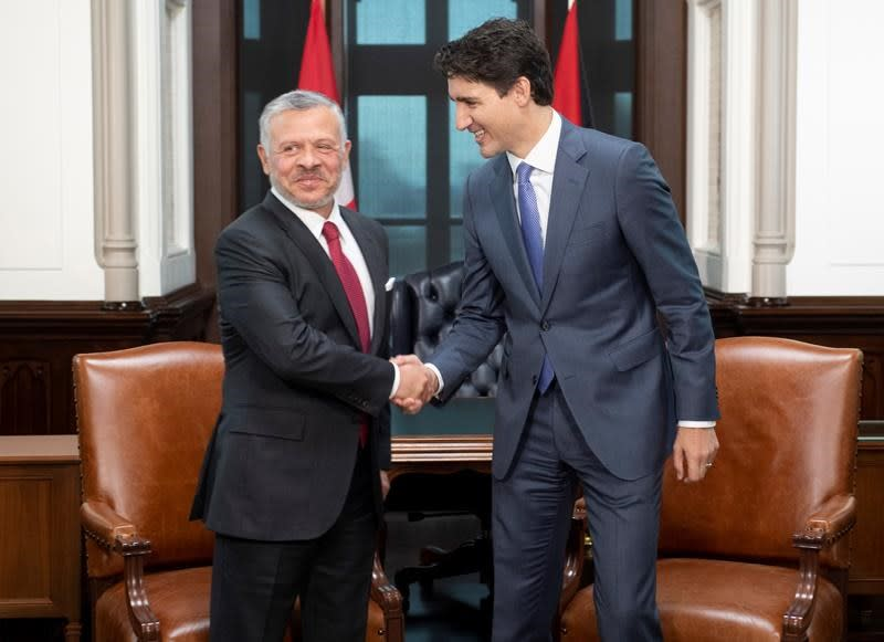 Trudeau, king of Jordan meet to talk refugee issues, security concerns