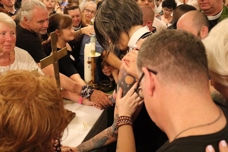 Pastor Nadia Bolz-Weber delivers her final sermon at House of All Sinners and Saints.