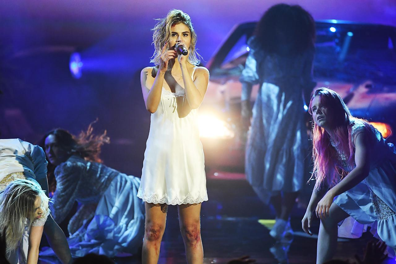 """<p>The most-followed celeb on Instagram bravely performed on the 2017 American Music Awards stage months after undergoing a kidney transplant — and while the singer's first performance since the surgery proved to be memorable, <a rel=""""nofollow"""">viewers flocked to Twitter to criticize Gomez for allegedly lip syncing</a>. """"I love how this big deal is made that Selena Gomez hasn't performed in a year and then show comes out and lip sync's [sic],"""" wrote one user.  But the singer's fans were quick to shut down the haters. """"May i remind y'all selena is still recovering from a kidney transplant and she just gave the performance of a lifetime. words can not express how emotional i'm feeling right now. literally shaking,"""" wrote one loyal fan.</p>"""