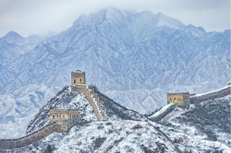 <p>The Jinshandling section of The Great Wall, one of the best preserved and most hiked portions.</p>
