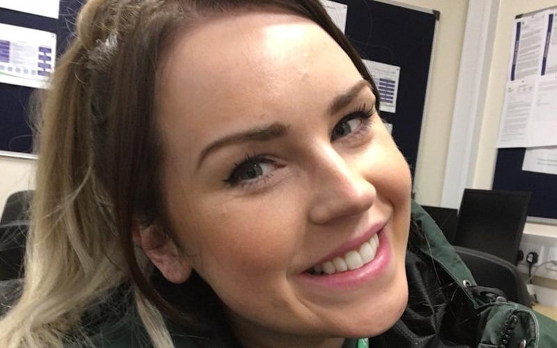 Paramedic Katie Tudor, who tweeted an image of the offending note, said she was upset by the nature of it - WMAS / SWNS.com