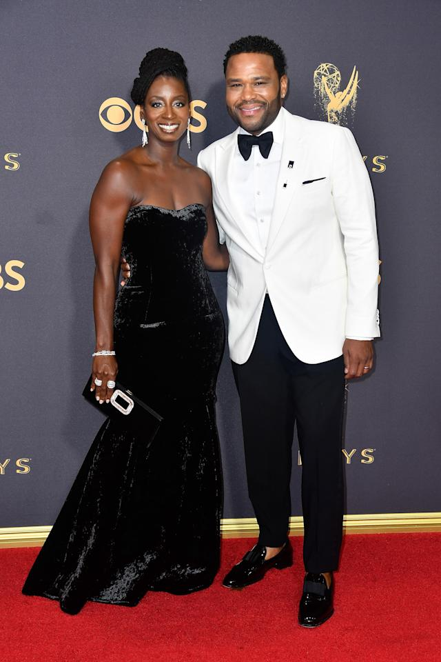 <p>Anthony Anderson and Alvina Stewart attend the 69th Primetime Emmy Awards on Sept. 17, 2017.<br> (Photo: Getty Images) </p>